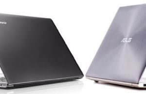 The Lenovo U300S (on the left) and the Asus Zenbook UX31 (right)