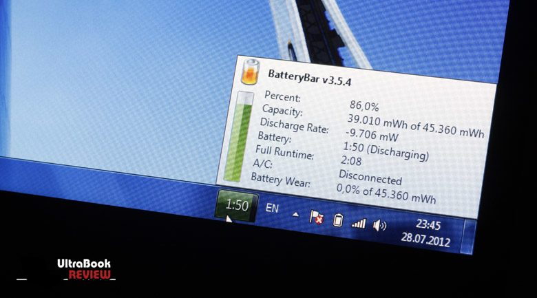 Battery life during average use is a bit under par