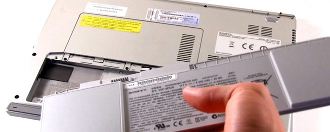 Batteries are encased on most ultrabooks, but there are exceptions