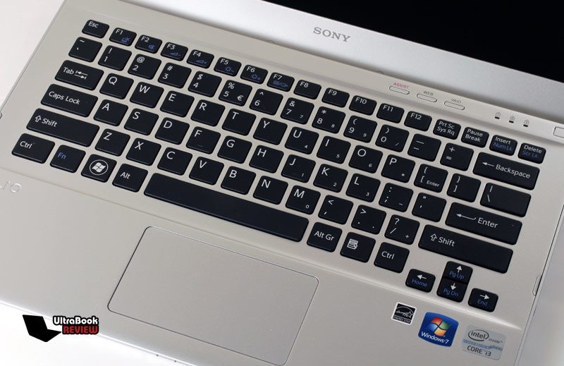 The trackpad is good, but a bit cramped, while the keyboard feels mushy