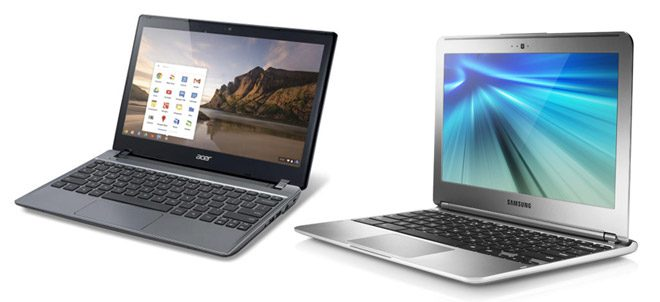 The 11.6 inch Acer and Samsung Chromebooks are excellent mini laptops for the money