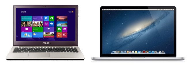 Asus UX51 and Apple Retina MBP - more powerful than ultrabooks and just as sleek