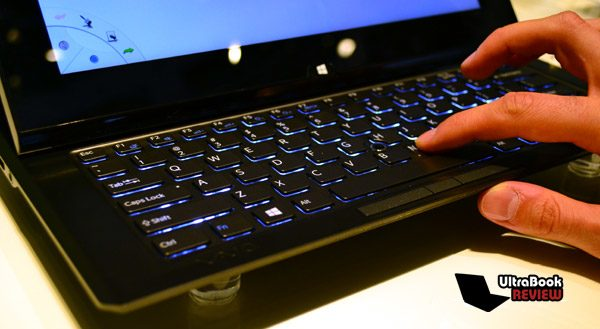 The keyboard is not just elegant, but also backlit. Yummy!