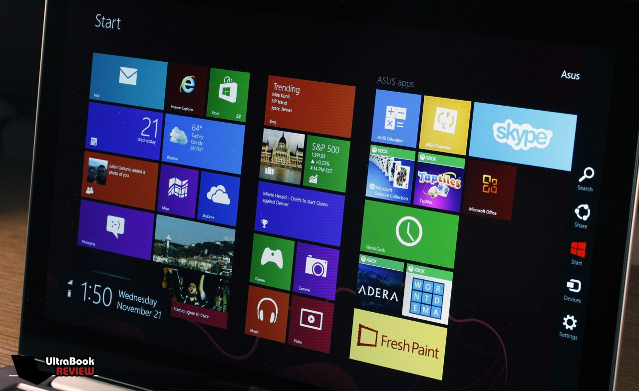 You'll need some time to get used to Windows 8
