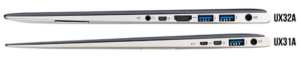 The Asus UX31A is slimmer and lighter than the UX32A and the UX32VD