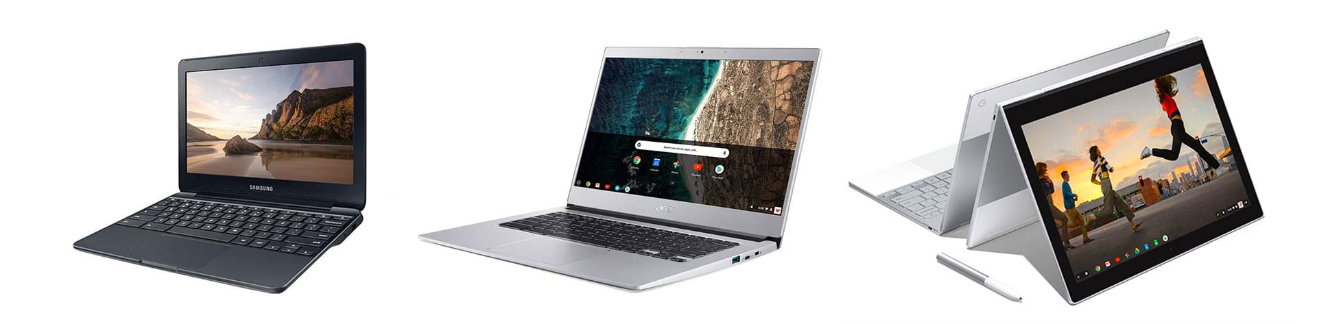Just some of the available Chromebooks