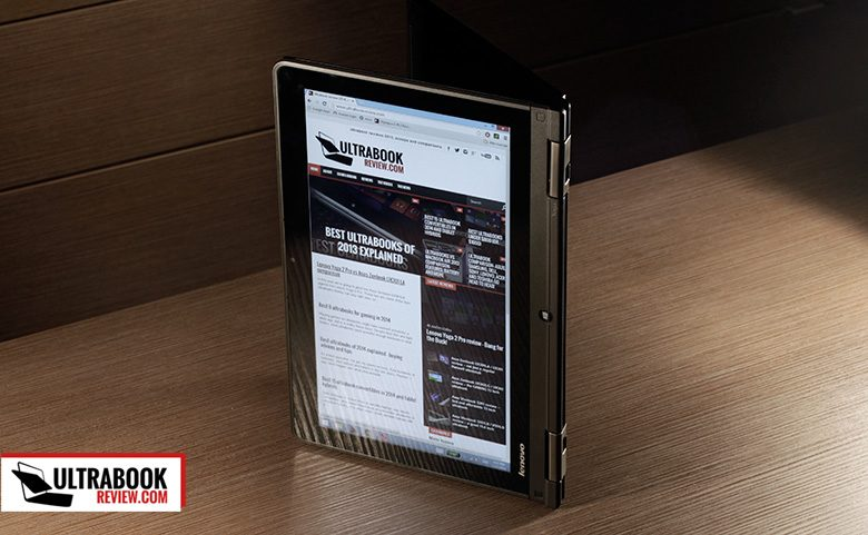 You can use the ThinkPad Yoga as a large tablet as well
