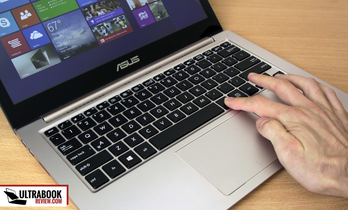 The keyboard and trackpad we're already used with on Zenbooks