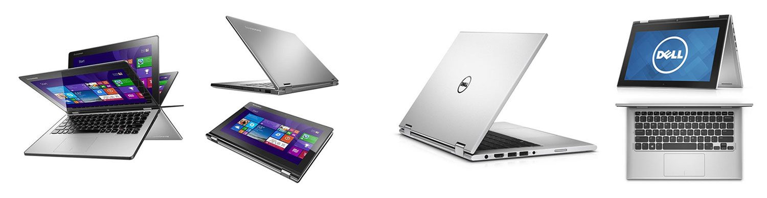 The Lenovo Yoga 2 11 and the Dell Inspiron 11 3000 and some of the most affordable 2-in-1 laptops available right now