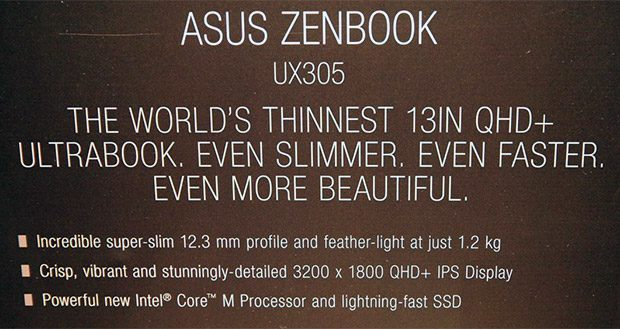 The Zenbook UX305 in only a few words