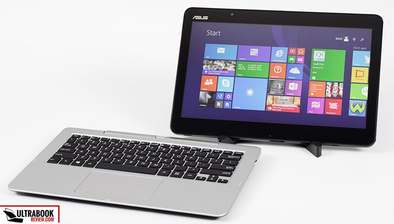 This is the Asus Transformer Book T300Fa, one of the first 2-in-1 mini laptops powered by Intel's Core M hardware