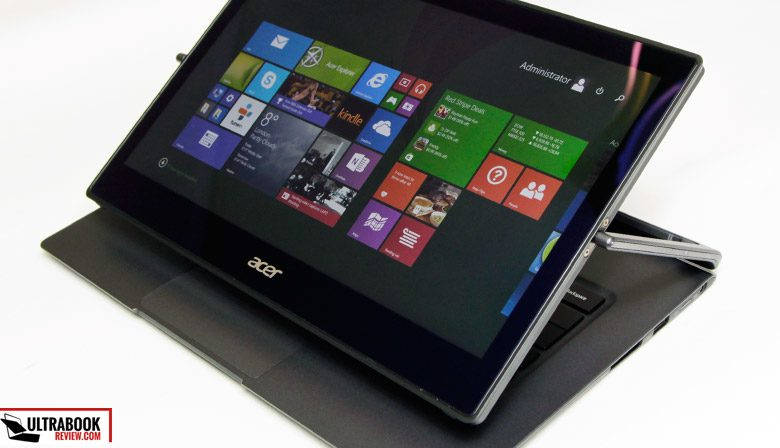 This is the Acer Aspire R 13, a 13-inch convertible with an atypical form factor