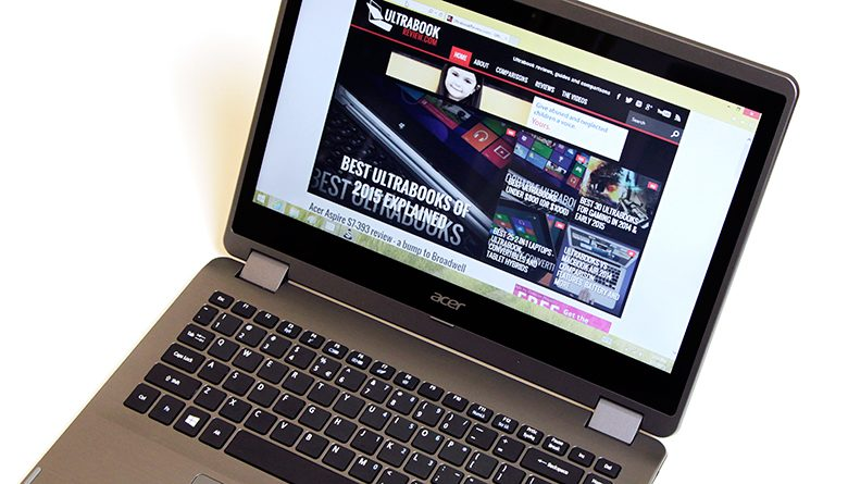 This is Acer's R 14, one of the most affordable Broadwell powered 2-in-1s available these days