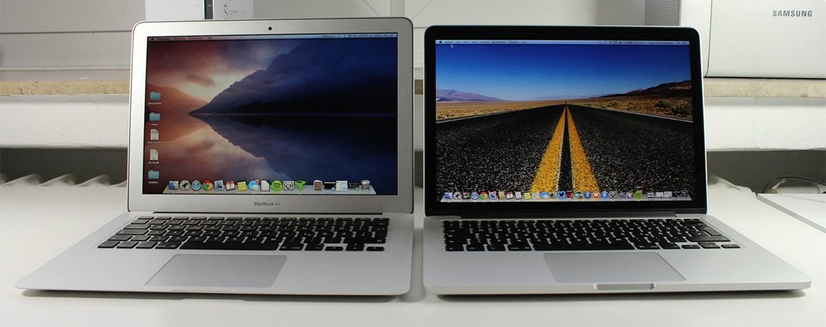 The MacBook Air and Pro are both larger, but offer their own slate of advantages