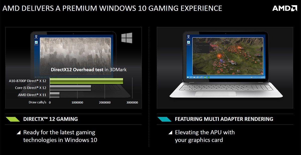 DirectX12 is Windows 10's major novelty
