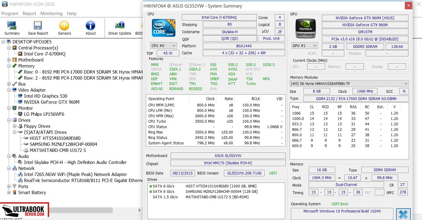 Asus ROG GL552VW review - Skylake multimedia 15-incher