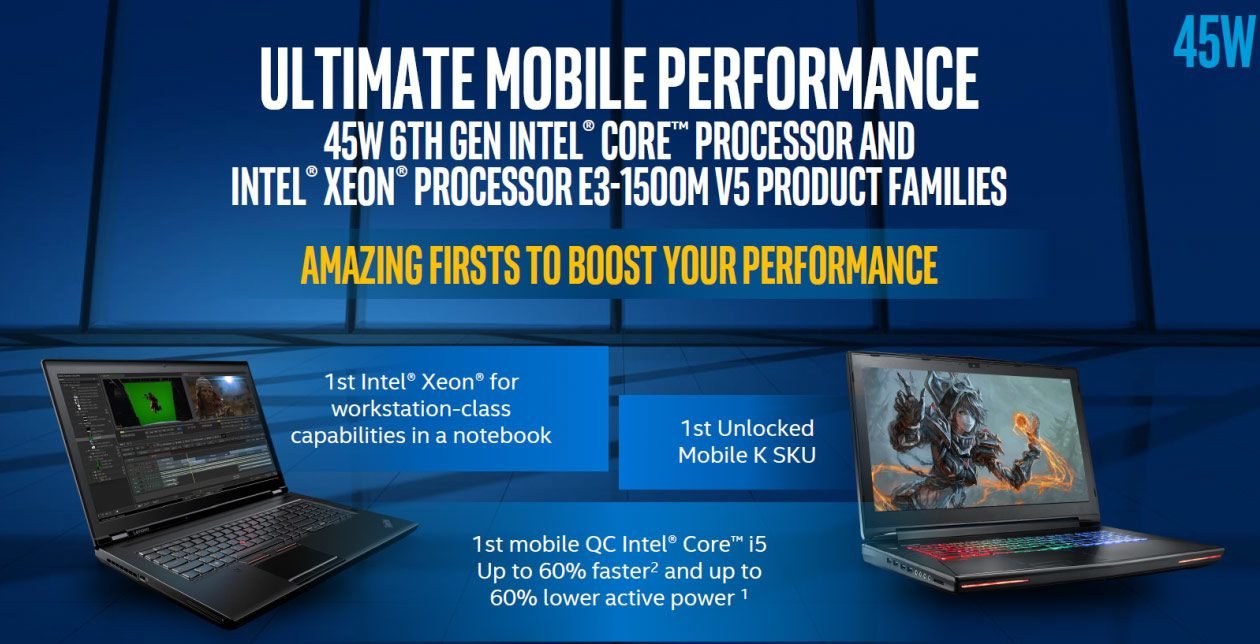 The Core i7-6700HQ is not the go-to option for those of you looking for the fastest mobile computers money can buy