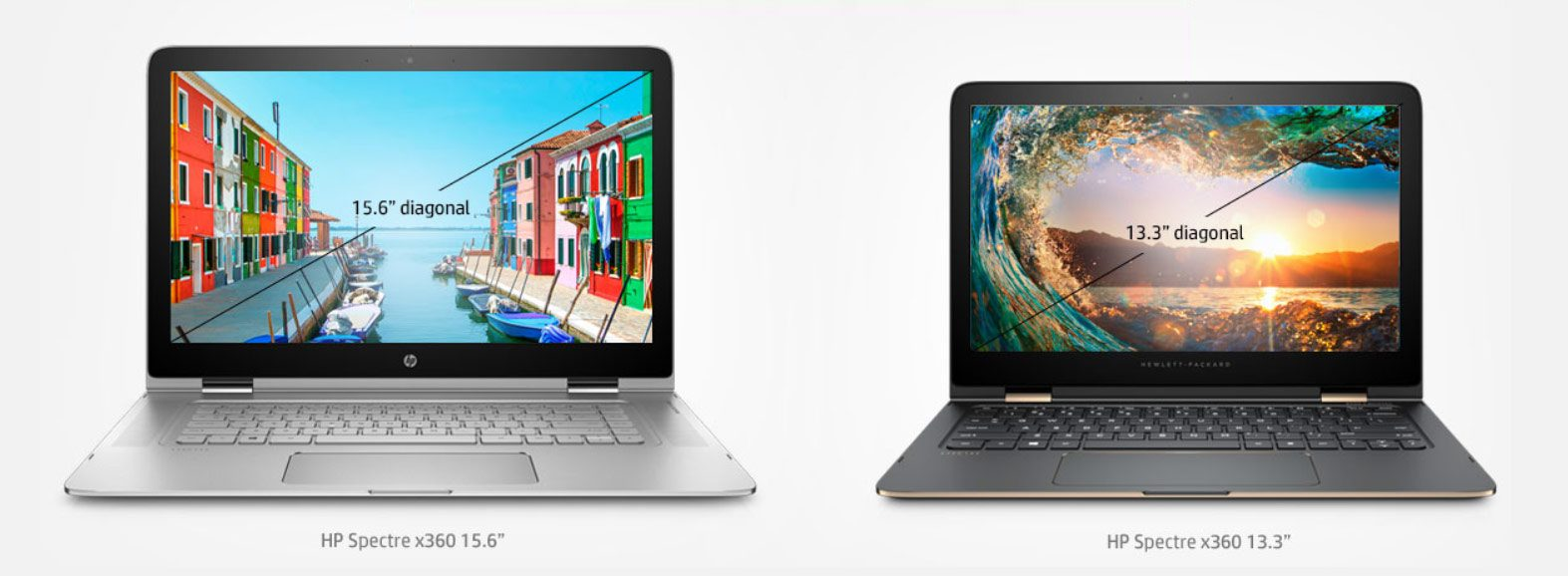 The Spectre X360s are available with 13.3 or 15.6 inch displays