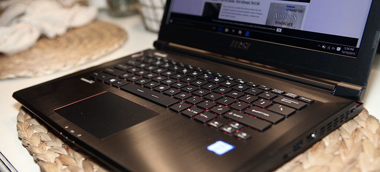 The MSI GS40 is one of the powerful 14 inchers to consider right now, next to the impressive, yet expensive Razer Blade 14, and the Gigabyte P34W