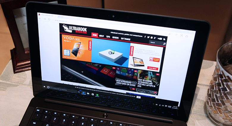 This QHD touchscreen is great, and the 4K options is even better, with a wide gamut panel