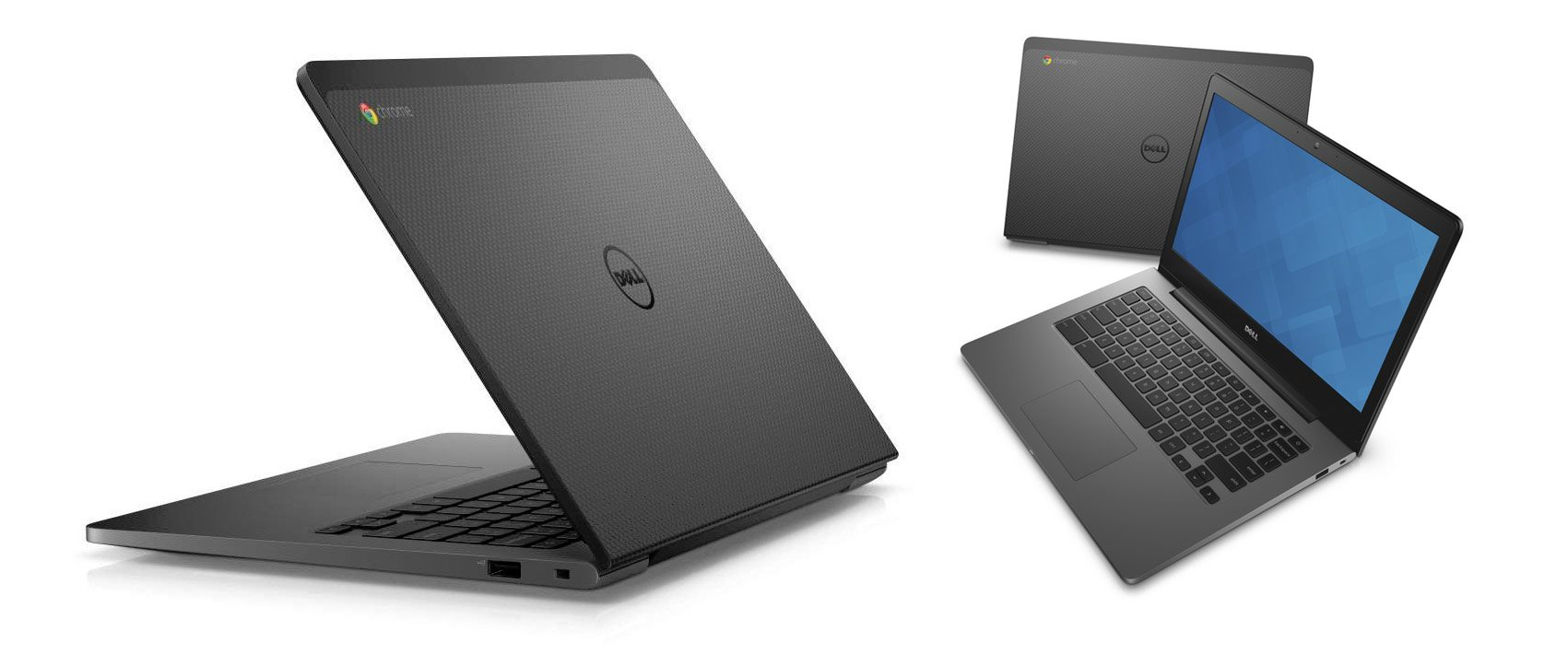 The Dell Chromebook 13 is a great notebook as well, faster, with a larger battery and a more sober design, but is not fanless