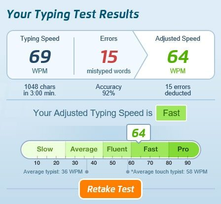 Typing Exercise: Speed Typing: The Most Common Words