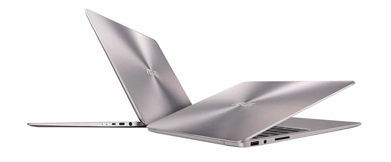 The Zenbook UX306UA is thinner and lighter than the UX305UA