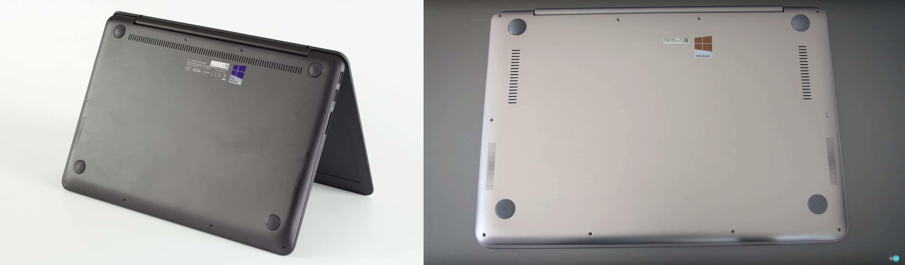 Bottom design: UX305UA (left) and UX306UA (right)