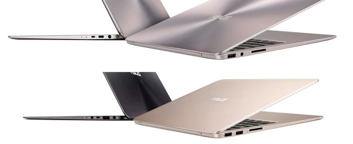 The limited IO of the Zenbook UX306 (top) might bother some of your