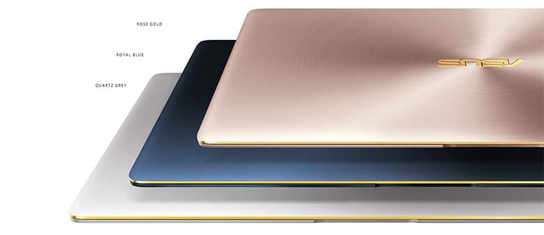 The UX390 is available in three colors, all with Gold accents though