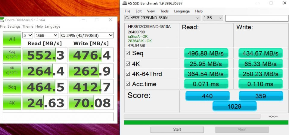 Tool AS SSD Benchmark - Qykem