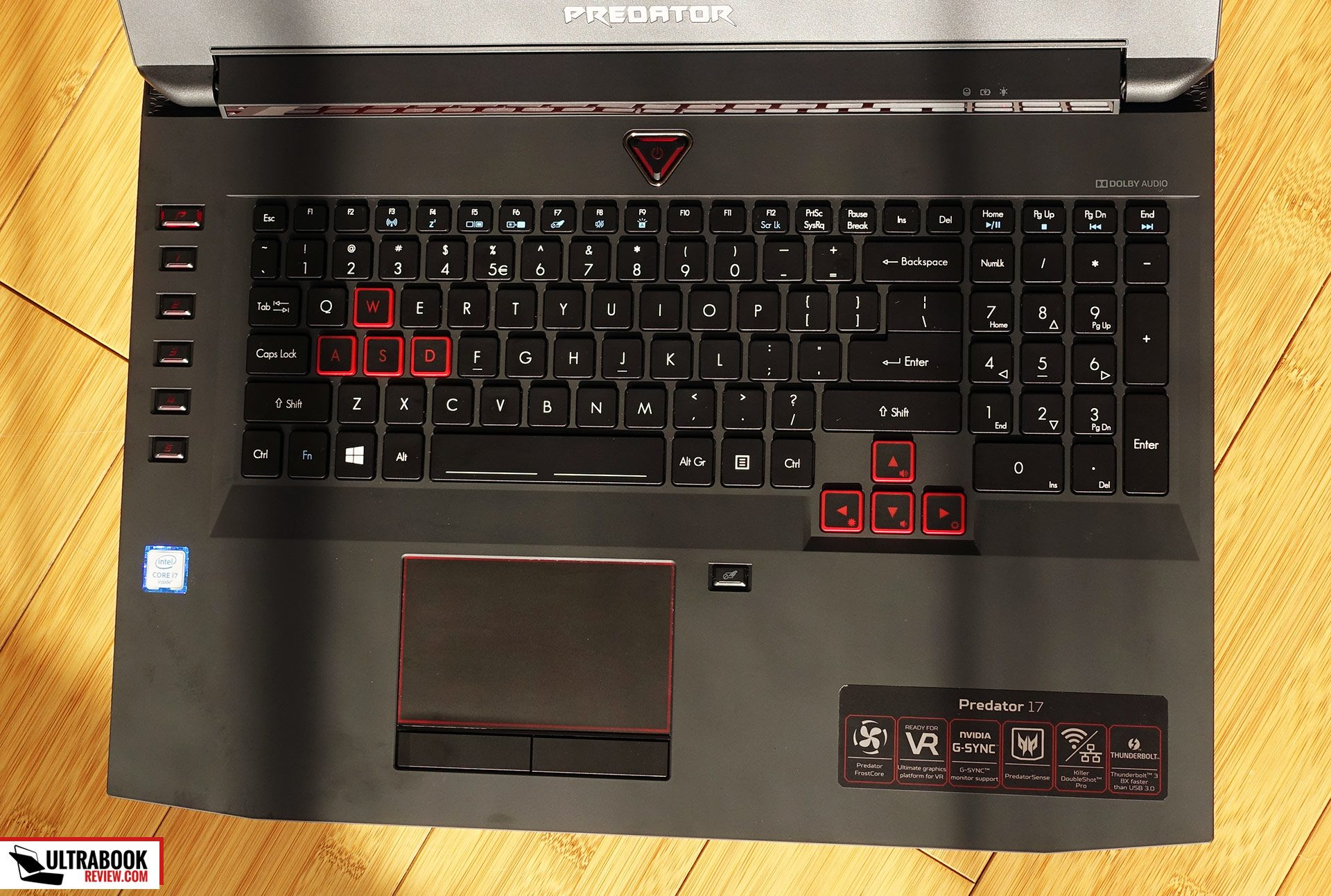 Acer Predator 17 G9 793 Review Gaming Laptop With Nvidia Gtx 1070 Keyboard Diagram The Layout Is Pretty Good Too A Numpad Section And Arrow Keys Slightly Separated From Others Both Physically Aesthetically