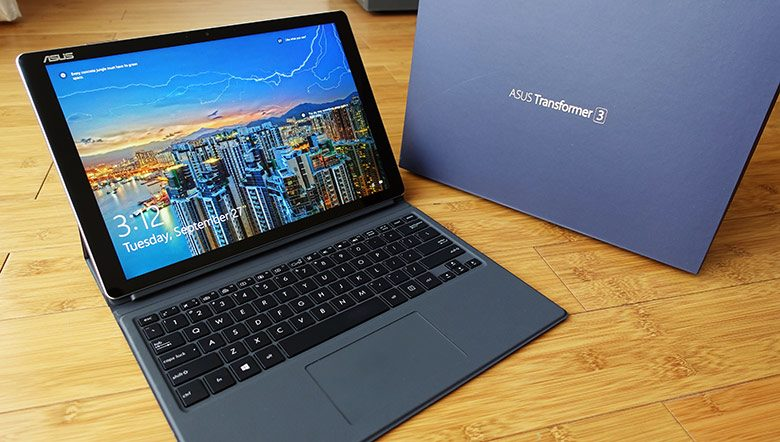 The Asus T305CA starts at $749 and includes the keyboard folio, IO extender and pen in the pack