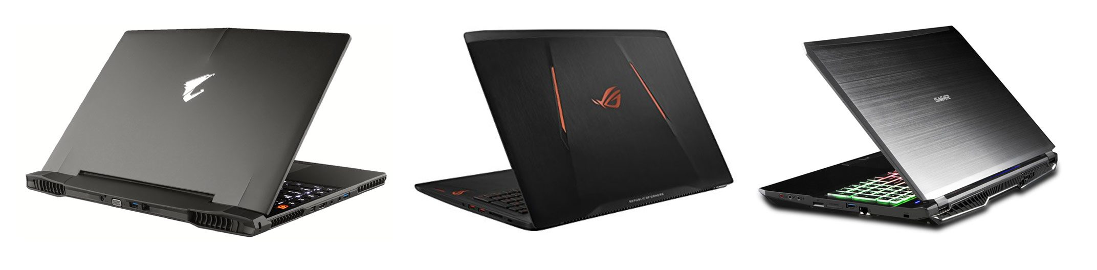 Aorus X5, Asus GL502VS and Sager NP8157 - 15-inch gaming laptop with GTX 1070 graphics