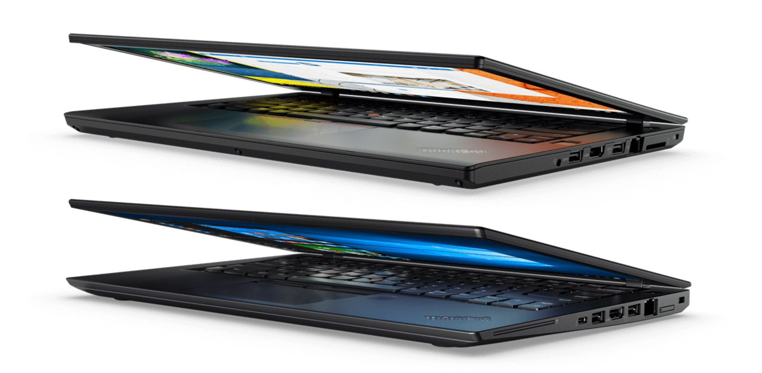 Lenovo's T470 (top) and the slimmer variant, the T470S (bottom)
