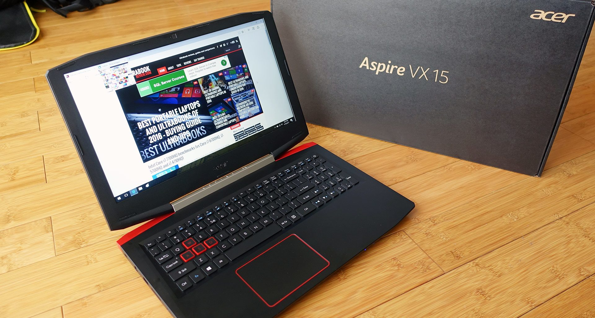 The Aspire VX 15 is a good all round laptop with an excellent price