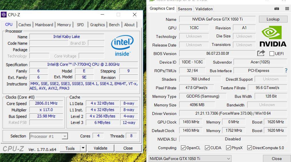 intel hd graphics 630 vs gtx 1050
