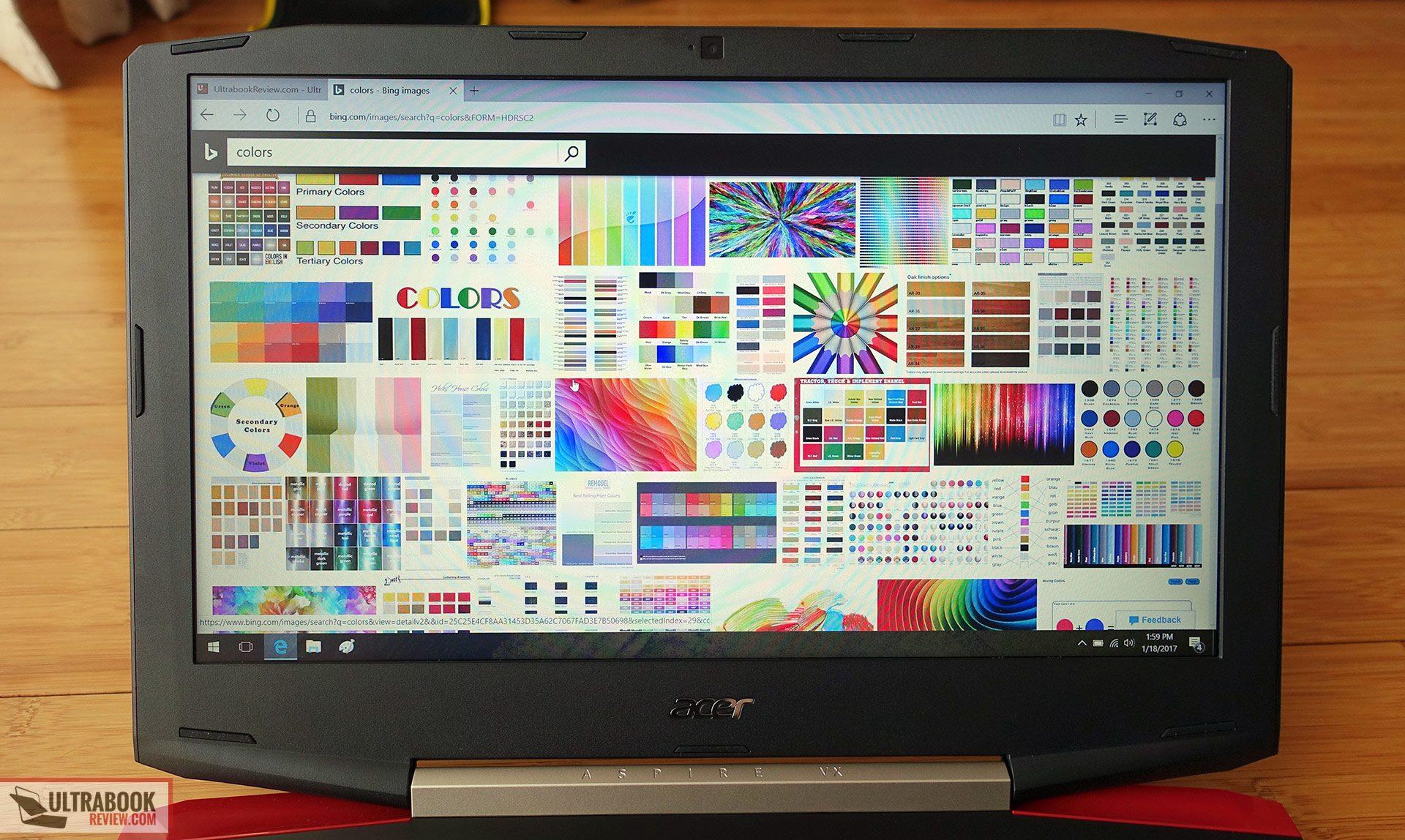 Acer Aspire VX15 VX5-591G review - Core i7-7700HQ CPU and
