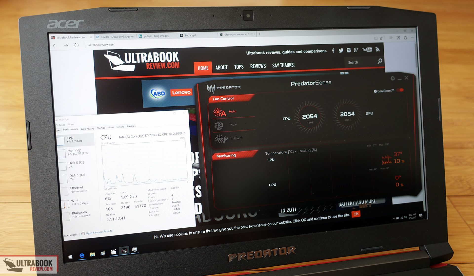 Acer Predator Helios 300 G3-571 review - the mid-range