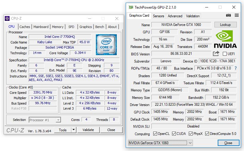 Lenovo Legion Y720 review (i7-7700HQ, GTX 1060) - solid mid-range