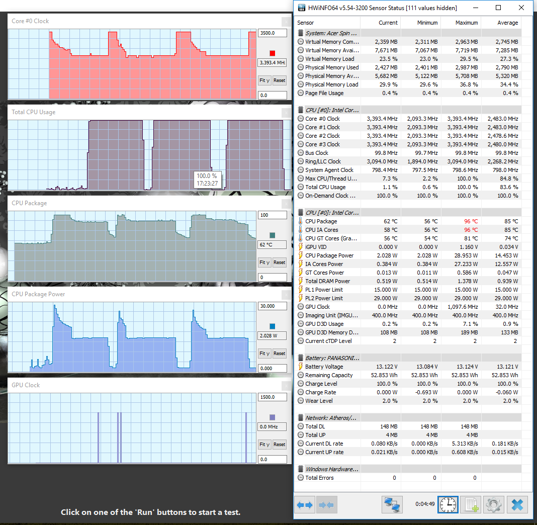Intel Core i5-8250U (Kaby Lake-R, 8th generation) benchmarks