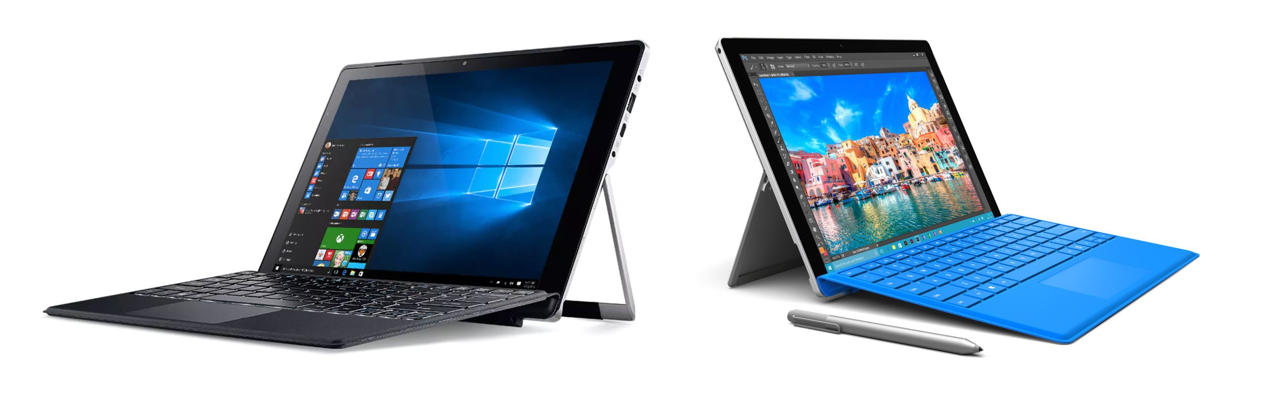 Alternatives: Acer Alpha 12 (left) and Microsoft Surface Pro (right)