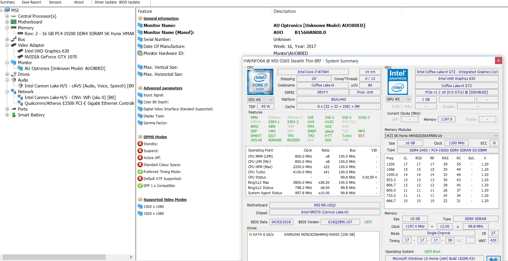 MSI GS65 Stealth Thin review (Core i7-8750H, GTX 1070 Max-Q)