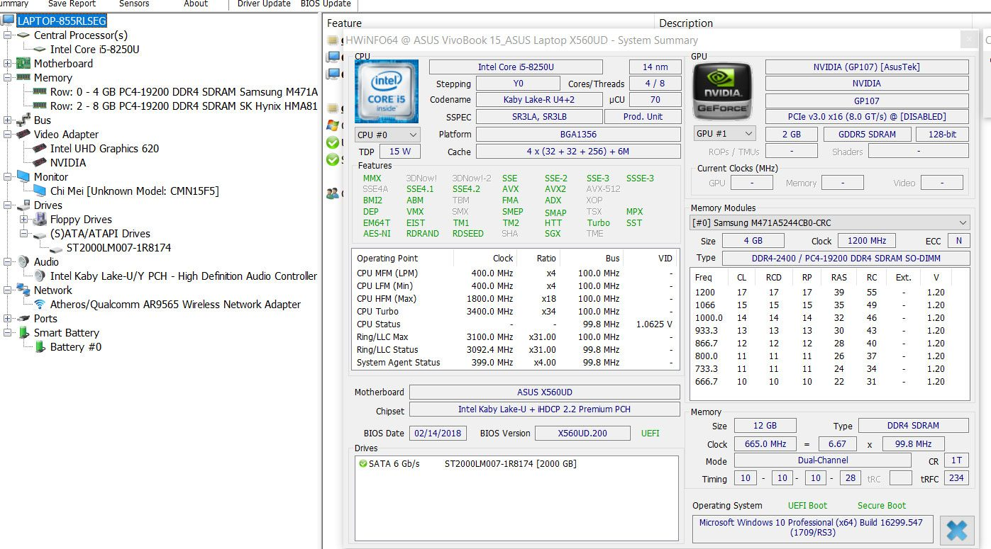 ASUS VivoBook 15 X560UD / K560UD review (Core i5-8250U, Nvidia GTX 1050)
