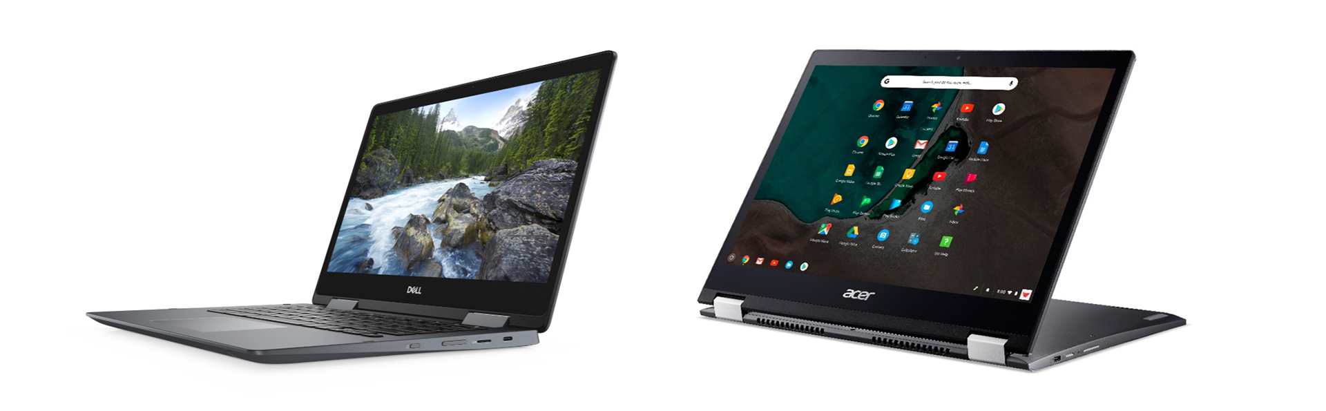 Dell and Acer Core U powered convertible Chromebooks