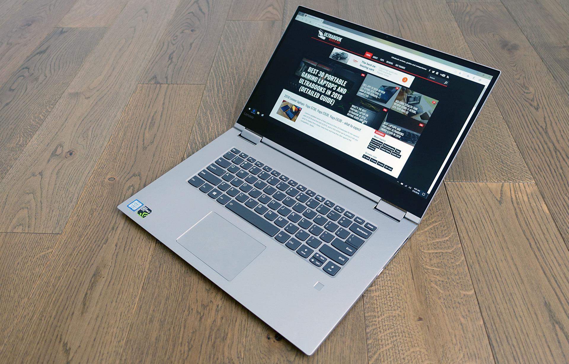 Lenovo Yoga 730 15 review (Yoga 730-15IKB model - i7-8550U, GTX 1050