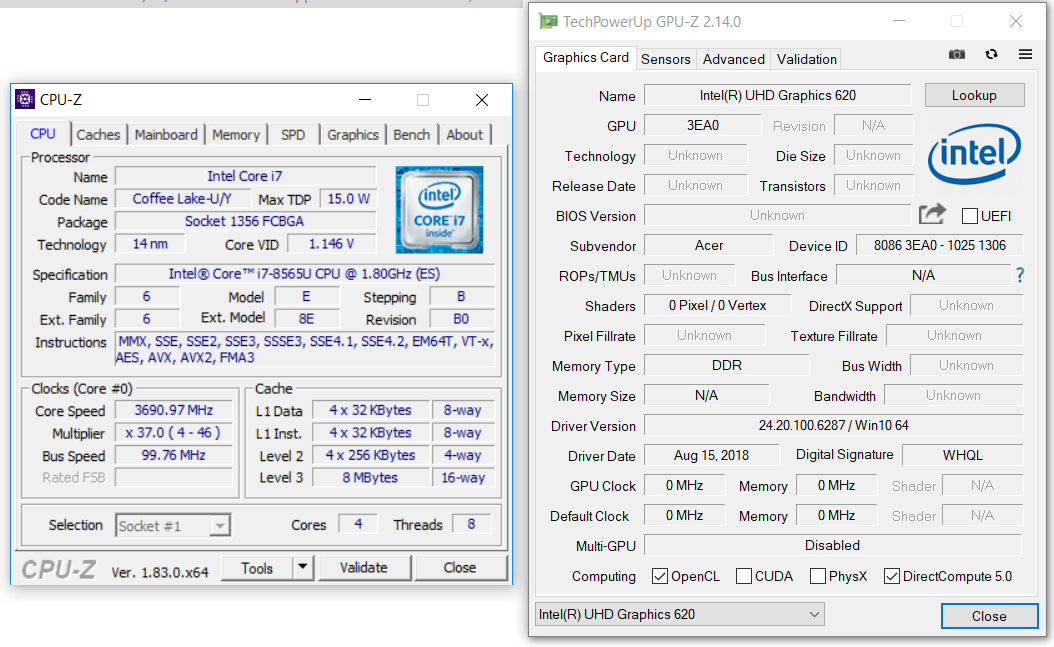 Acer Swift 5 SF515-51T impressions (i7-8565U, UHD 620) - the
