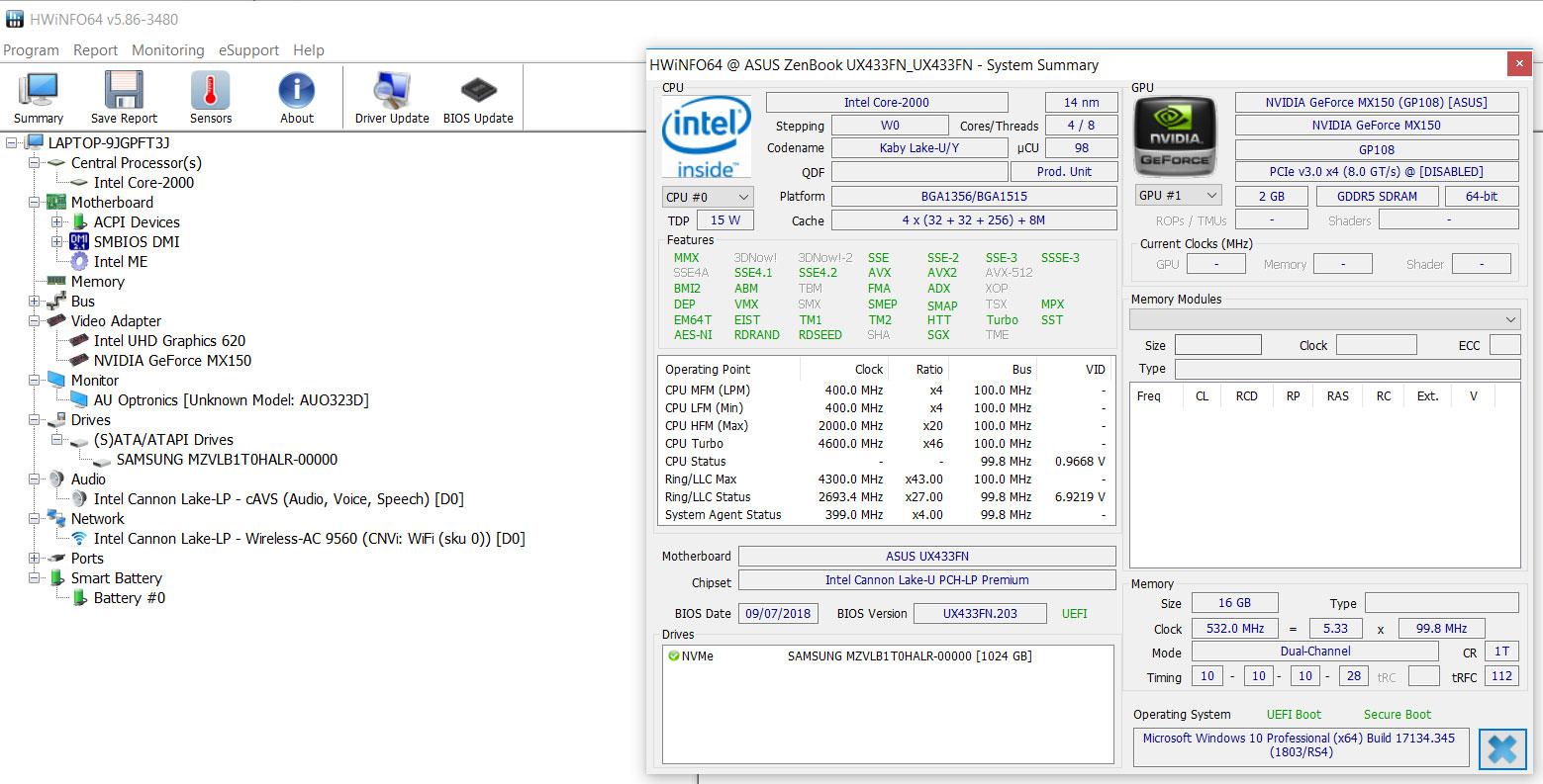 Asus ZenBook 14 UX433 review (UX433FN - Core i7-8565U, MX150)