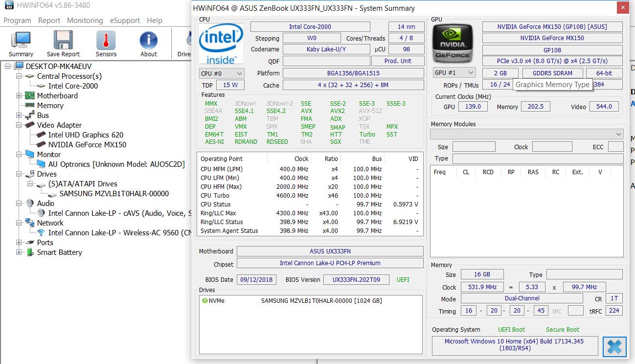 Asus ZenBook UX333 review (UX333FN – Core i7-8565U, MX150)