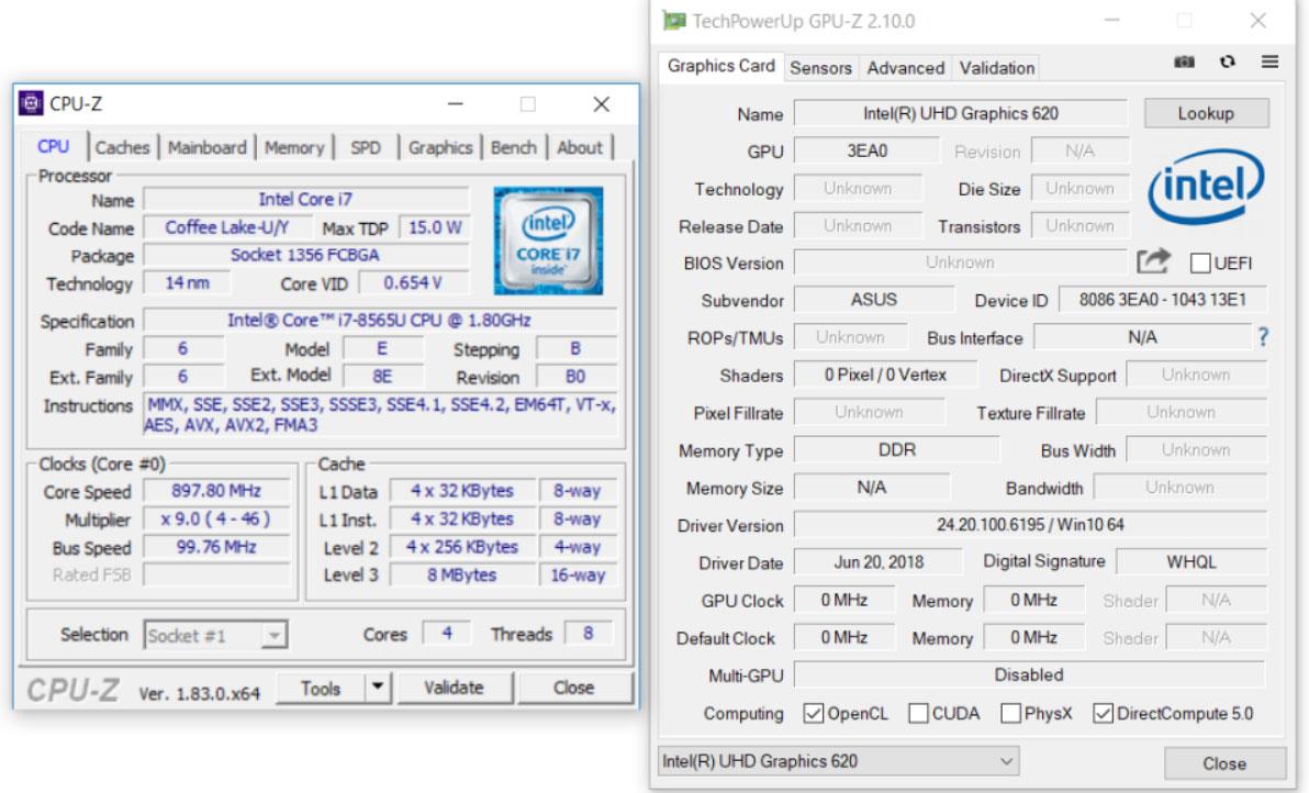Intel Core i7-8565U benchmarks (Whiskey Lake U) - vs i7